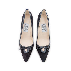 Keyhole High Court - Black Suede