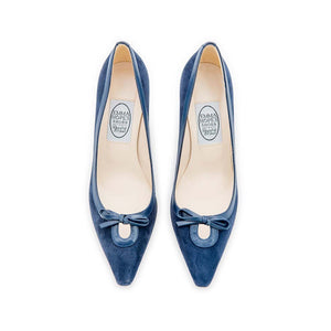 Keyhole High Court - Navy Suede