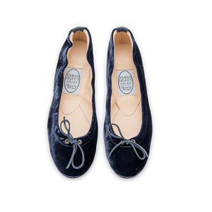 Elasticated Ballet - Inky Blue Velvet