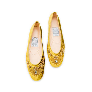 English Rosie Ballet - Gold Velvet