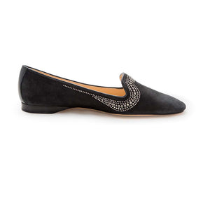 Metal Strass Albert - Charcoal Suede