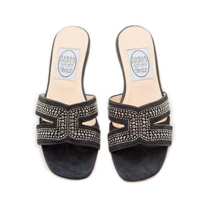 Metal Strass H Sandal - Grey Suede