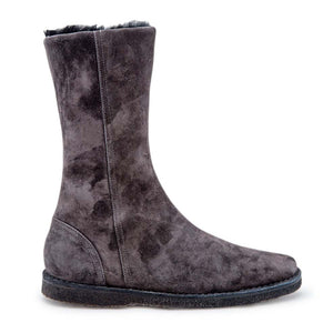 Shearling Mid Boot - Grey Suede