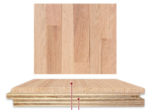 Red Oak Unfinished Engineered Hardwood - Character