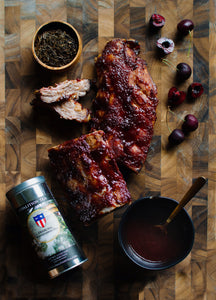 Baby Back Ribs with Hojicha Cherry BBQ Sauce