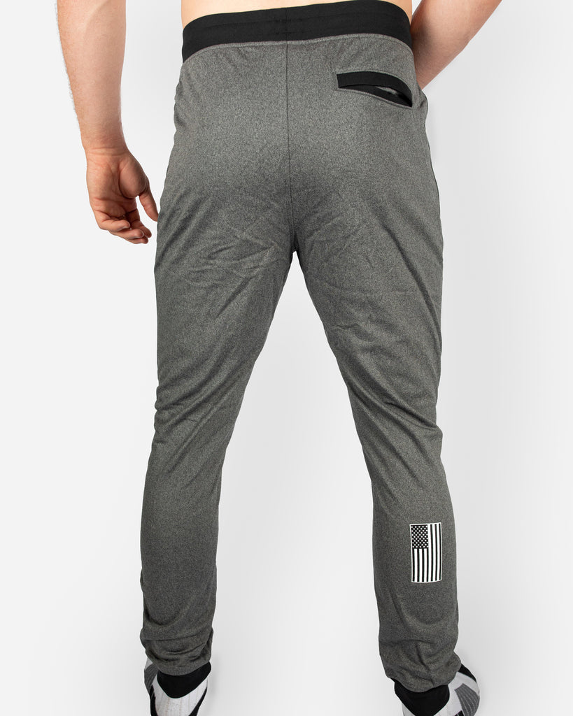Under Armour Wrestling Men's Gray Flag & Shield Sportstyle Joggers
