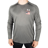 Under Armour Wrestling Men's Gray US Flag Lighter Longer Crew