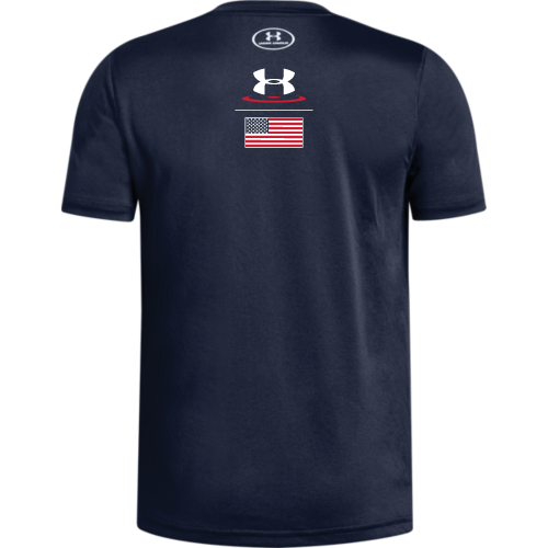 Under Armour Wrestling Youth Navy US Flag 2.0 Locker Tee