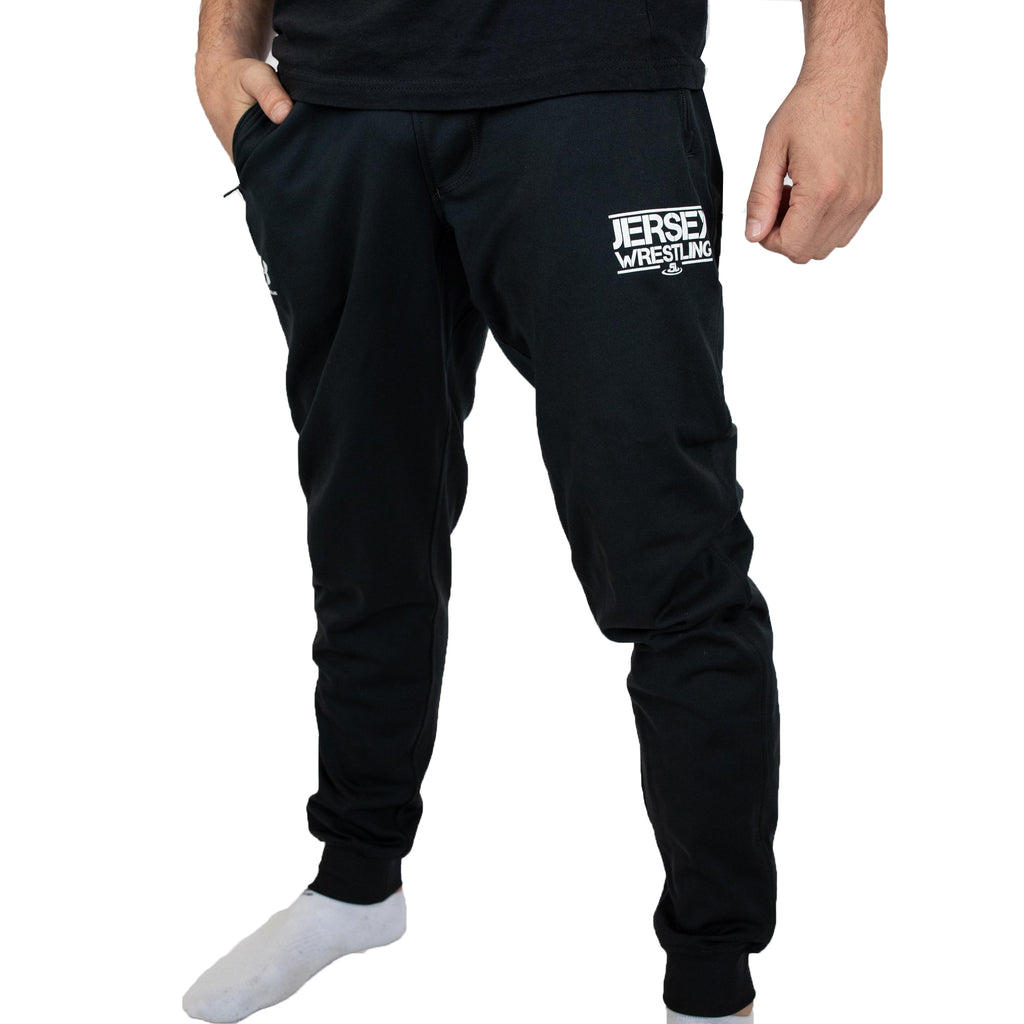 Under Armour Men's Black Jersey Wrestling Performance Joggers