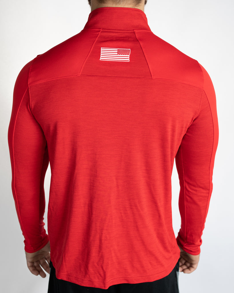 Under Armour Wrestling Men's Red Locker 1/4 Zip