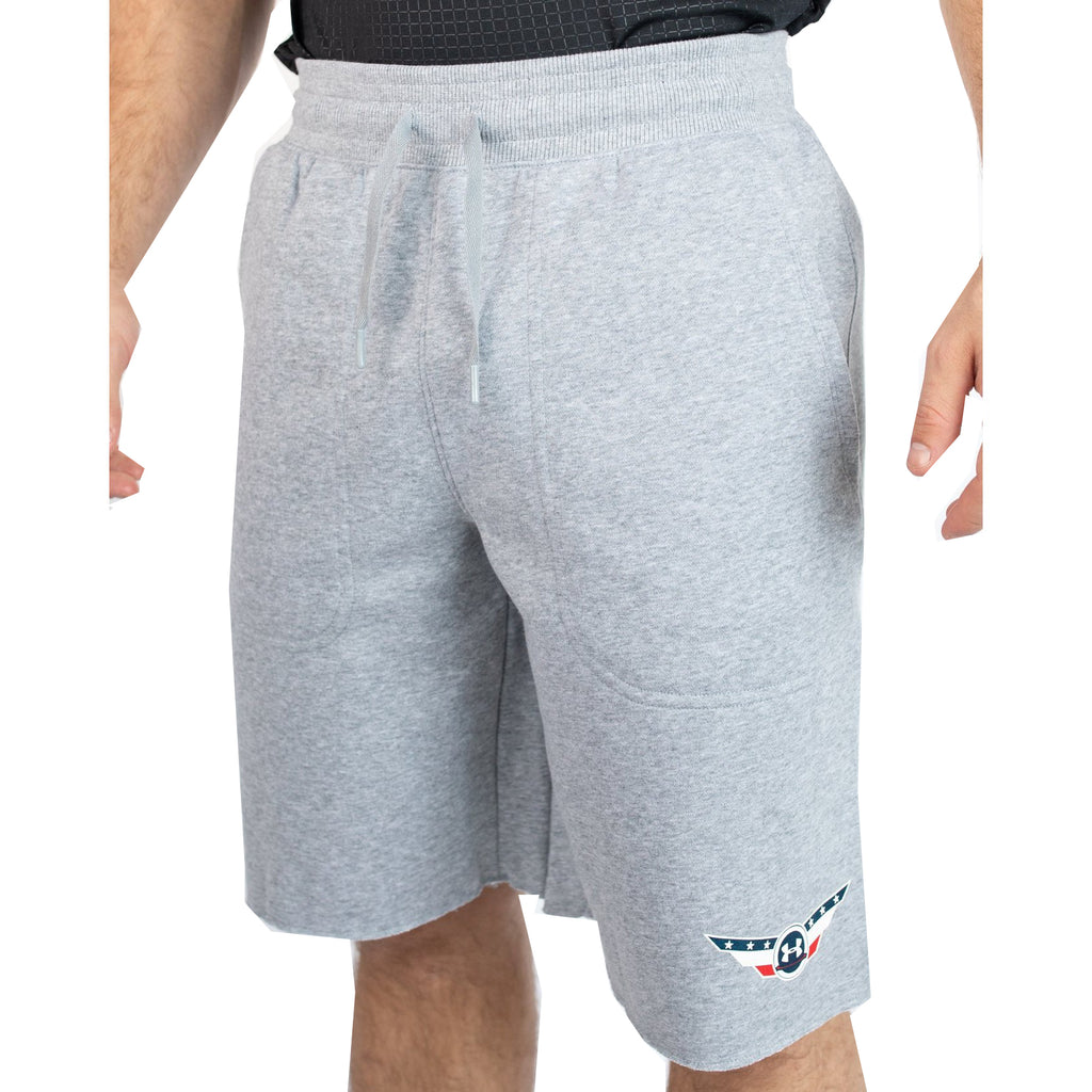 Under Armour Wrestling Men's Gray Fleece Shorts