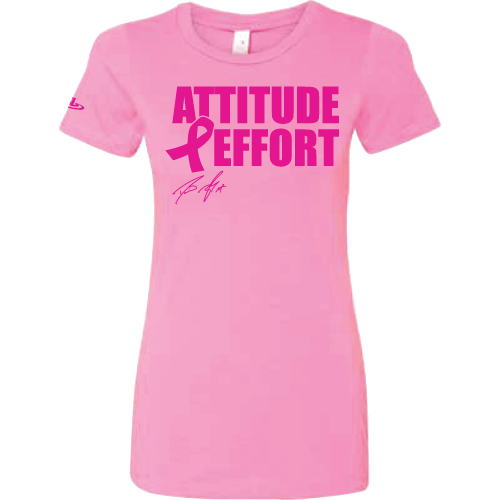 ScrapLife Women's Pink David Taylor Breast Cancer Awareness Tee