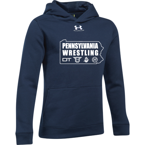 Under Armour Youth Navy PA Wrestling Hustle Fleece Hoodie
