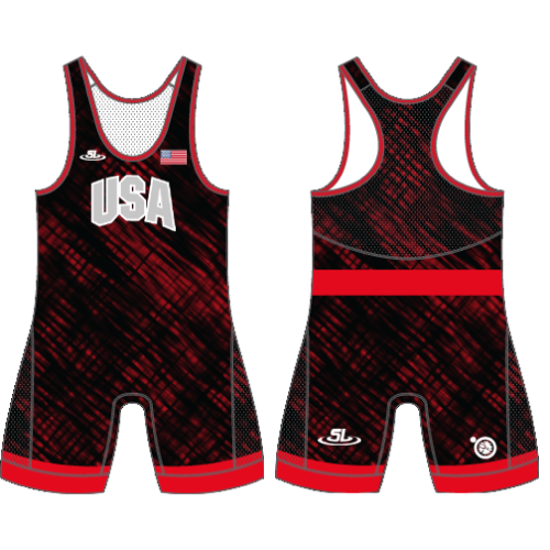 ScrapLife Men's Red/Black USA Singlet