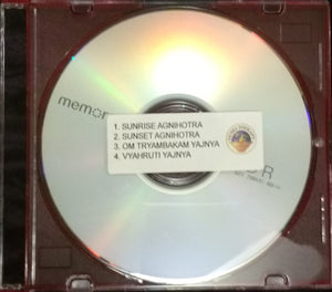 Agnihotra mantras on audio CD
