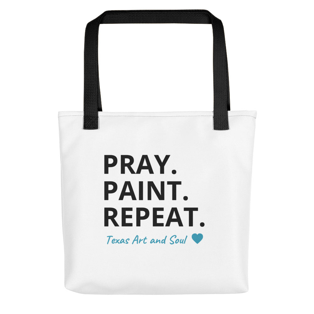 PRAY. PAINT. REPEAT. Tote bag