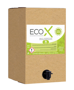 Bag-in-box de 10L de detergente ecológico multi-superfícies desengordurante EcoX