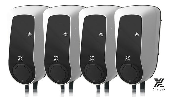 ChargeX Aqueduct 4 WallBox Set mit 4 Ladepunkten - 163 Grad