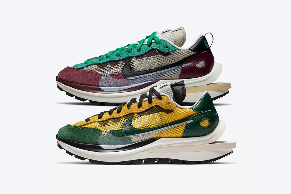 sacai x Nike VaporWaffle 'Tour Yellow' & 'Villain Red' | Release Mechanics