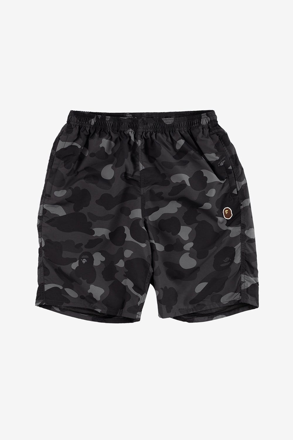 A Bathing Ape Apparel Camo Beach Pants Black
