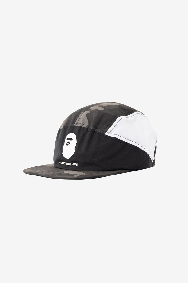 A Bathing Ape Apparel OS Camo Color Block Running Cap