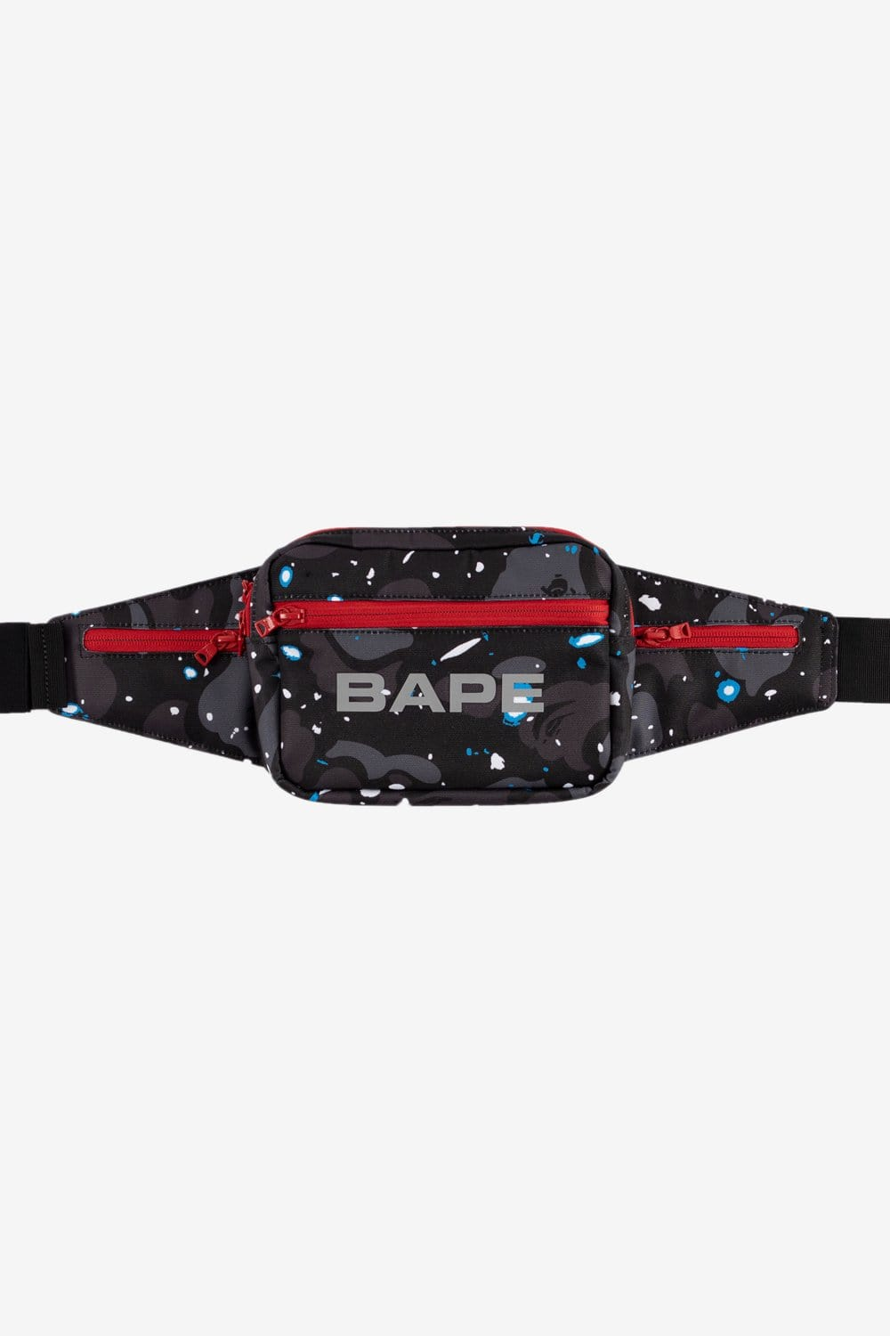 A Bathing Ape OS Space Camo Waist Bag Black