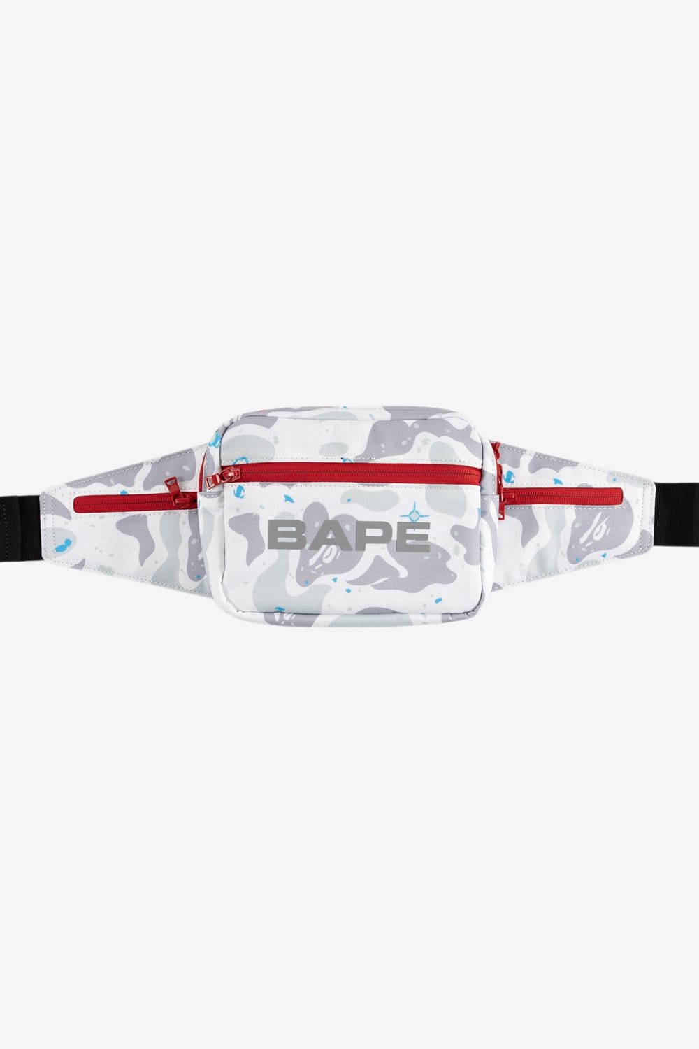 A Bathing Ape OS Space Camo Waist Bag White