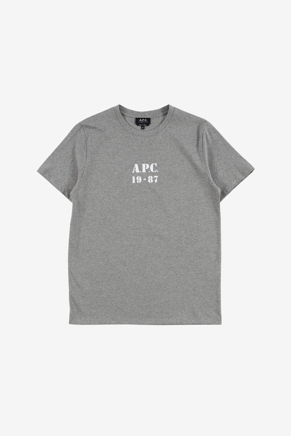 A.P.C. Apparel Georges Logo T-shirt Gris Chine