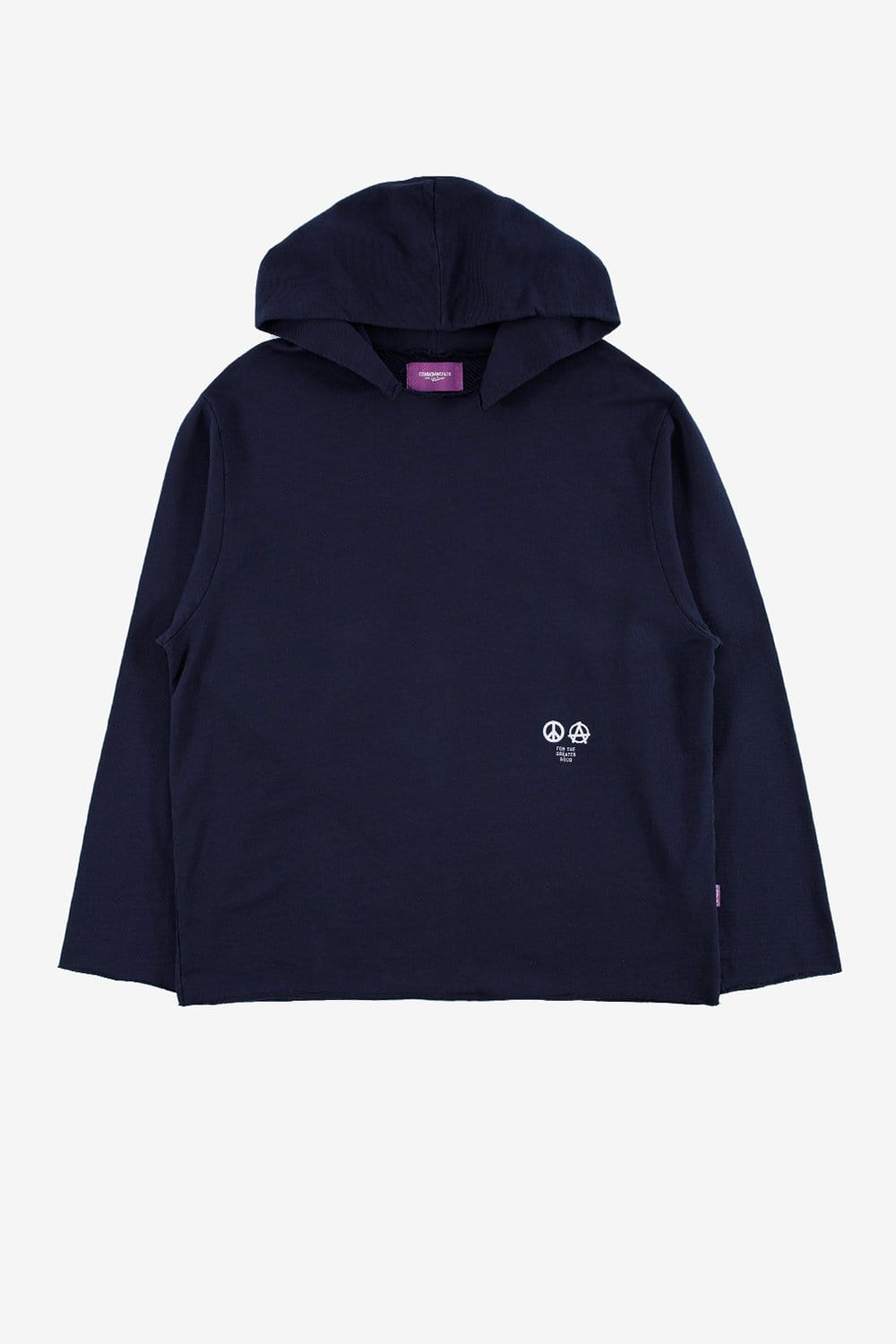 Commonwealth Apparel XL Lightweight Raw Hem Hoodie Navy
