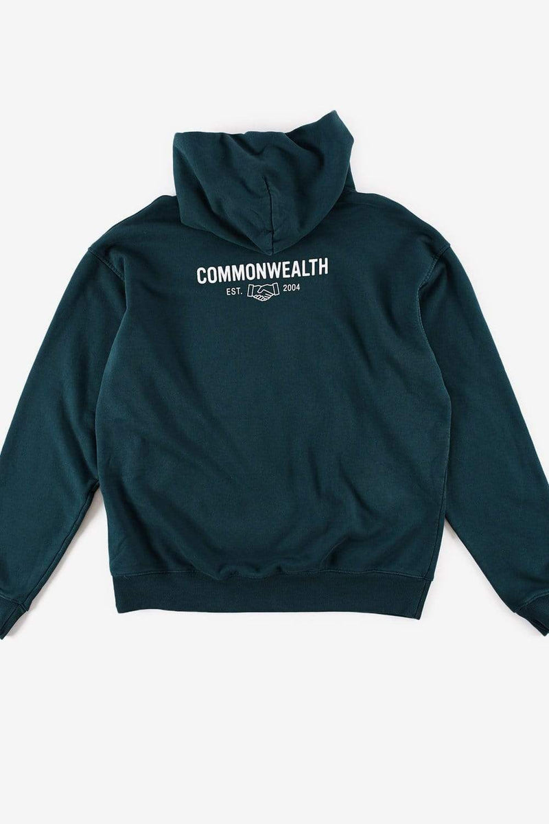 Commonwealth featured Logo Hoodie Pine