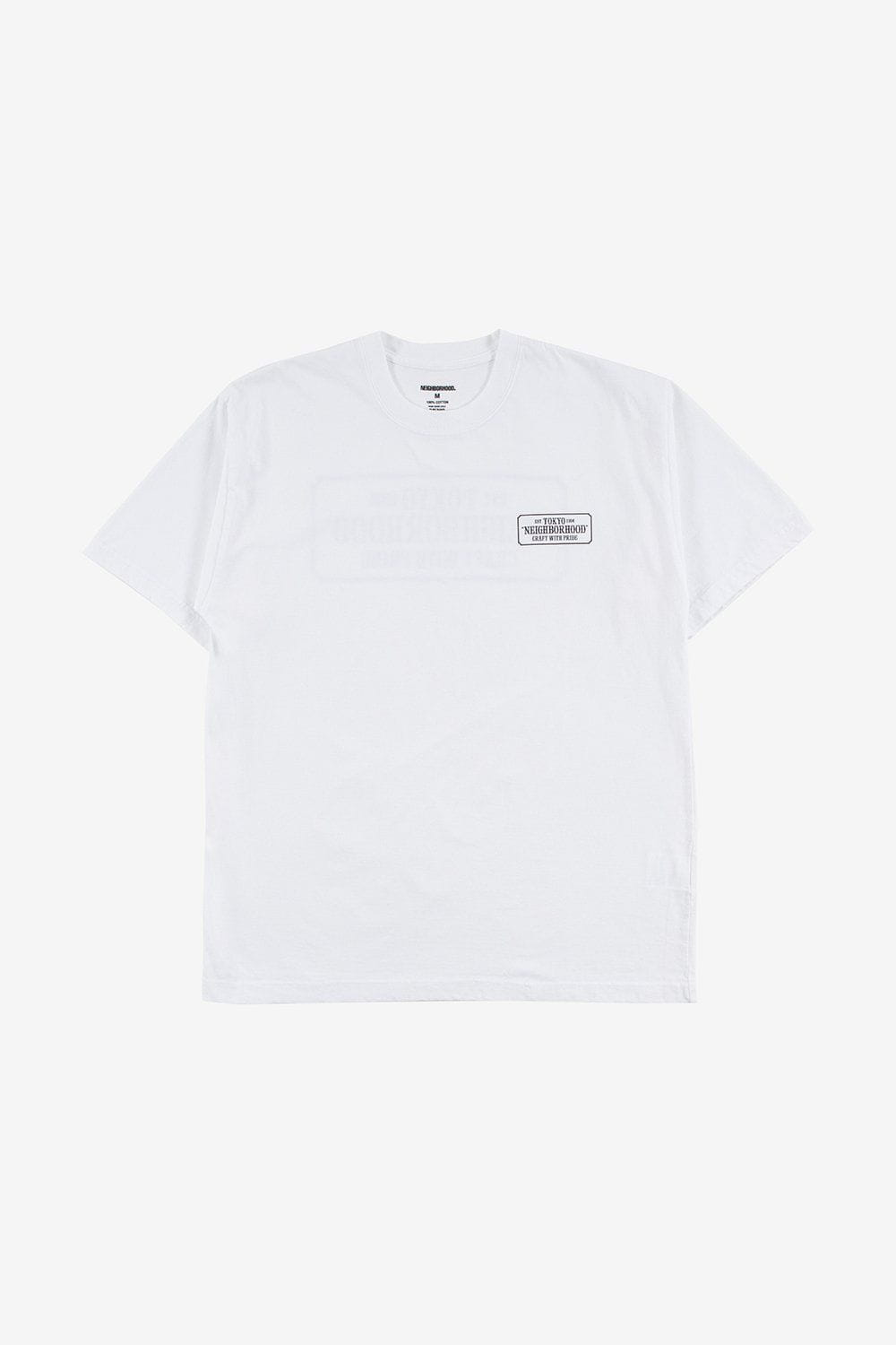 Neighborhood Apparel Bar & Shield Tee White