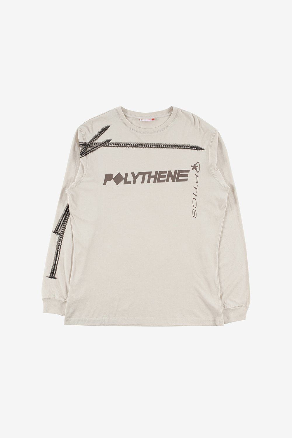 Polythene Optics Apparel Logo Long Sleeve T-Shirt Grey