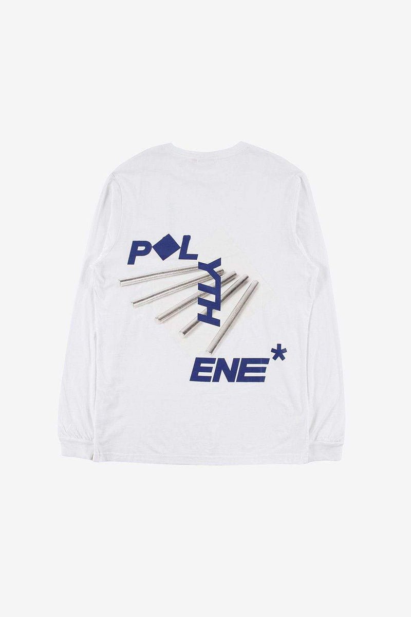 Polythene Optics Apparel Metal Rod Long Sleeve T-Shirt White