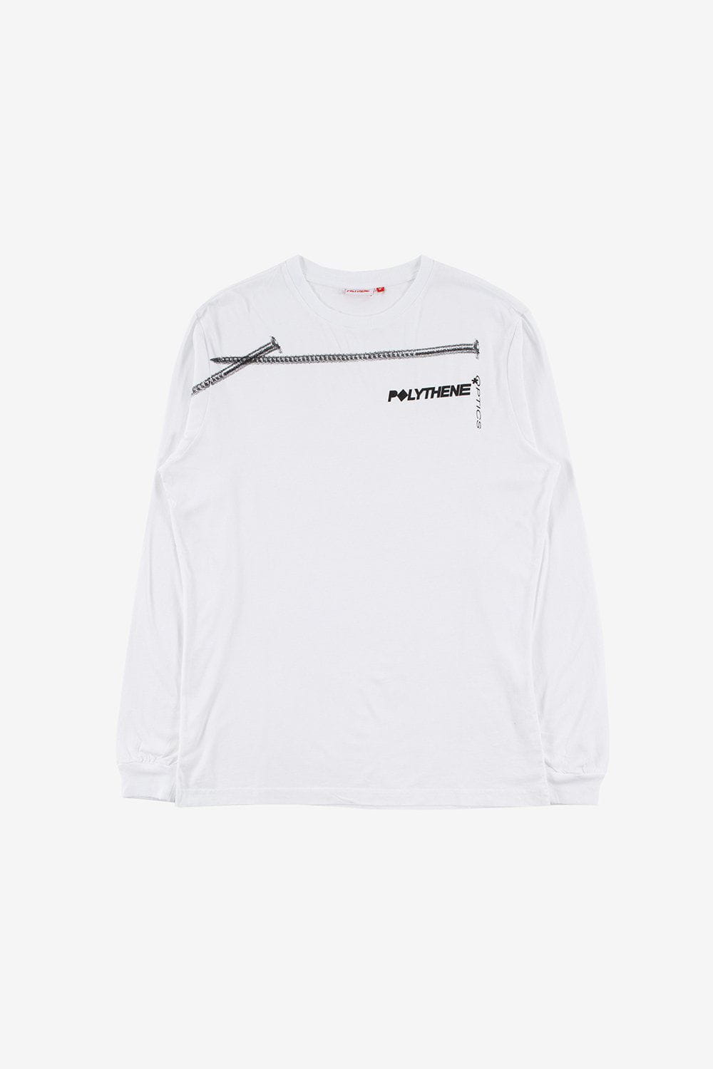 Polythene Optics Apparel Nails Long Sleeve T-Shirt White