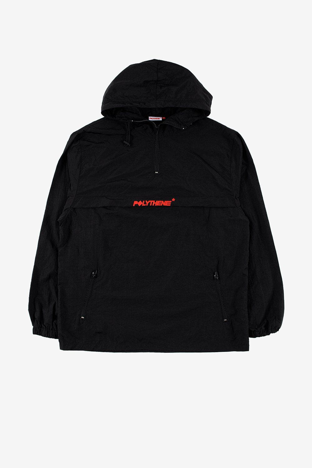 Polythene Optics Apparel Zipped Windbreaker Jacket Black