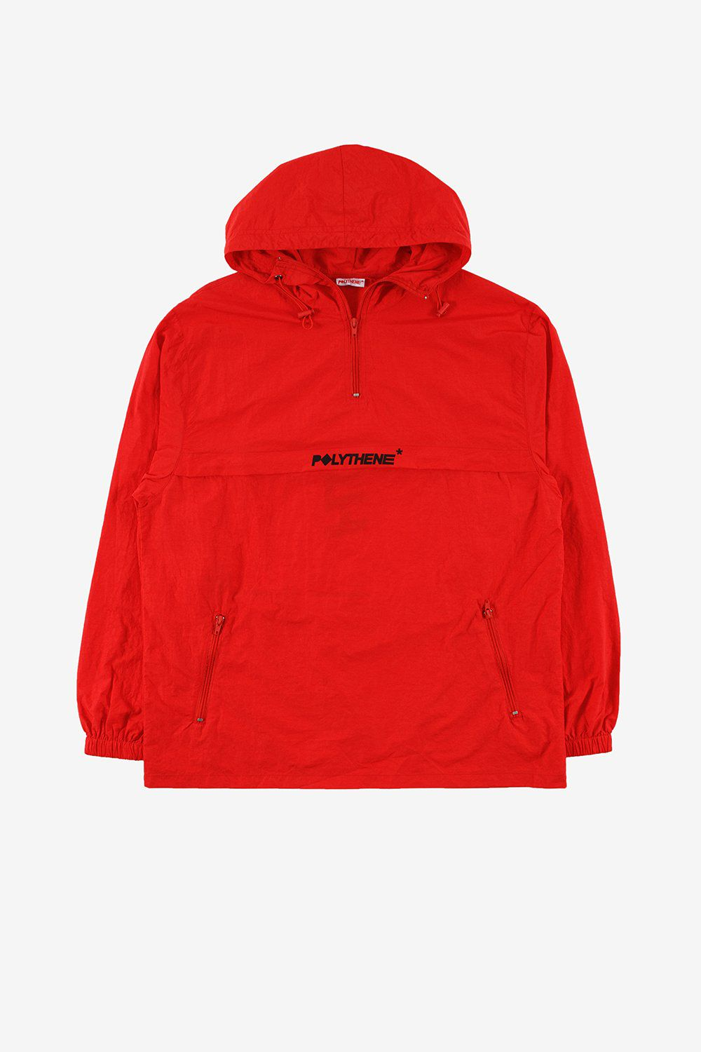 Polythene Optics Apparel Zipped Windbreaker Jacket Red