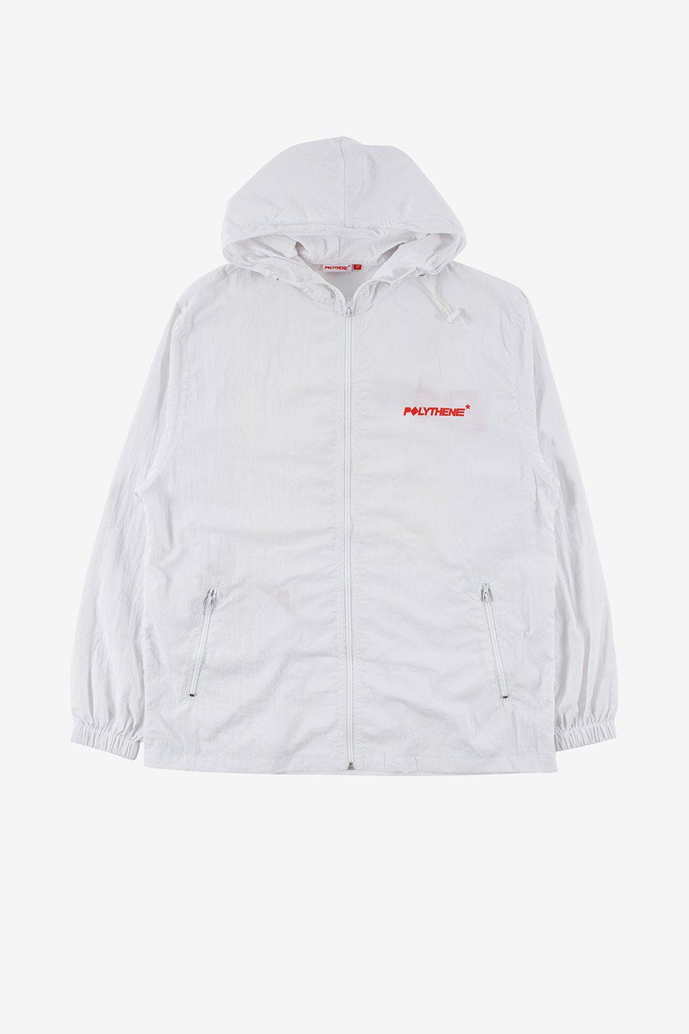 Polythene Optics Apparel Zipped Windbreaker Jacket White