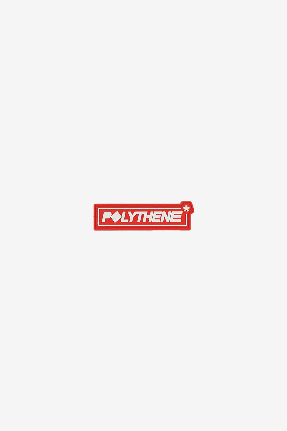 Polythene Optics OS Rubber Badge White/Red