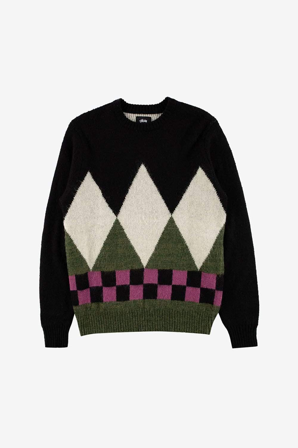 Stussy Apparel Diamond Check Mohair Sweater