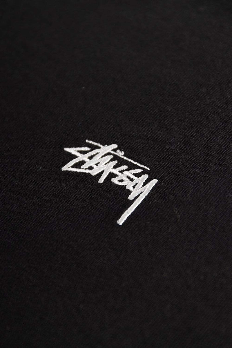Stussy Apparel Stock Logo Long Sleeve Crew Black