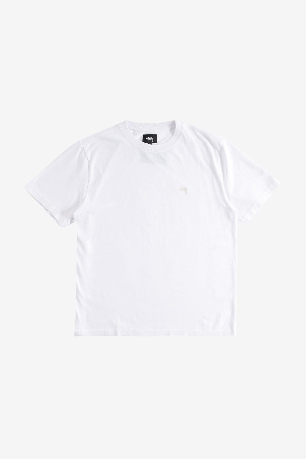 Stussy Apparel Stock Logo Short Sleeve T-Shirt White