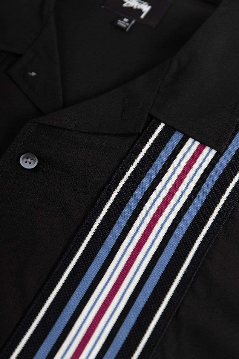 Stussy Apparel Striped Knit Panel Shirt