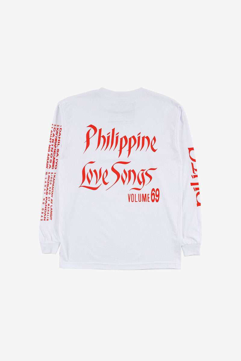 Tropical Futures Apparel Philippine Love Songs Long Sleeve Tee