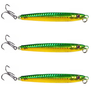 Salmon Darts 30g - Green/Gold (3 Pack)