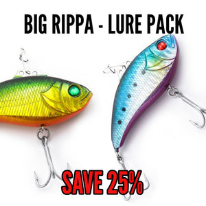 LURE PACK -  70mm BIG RIPPA (4 lures in total)