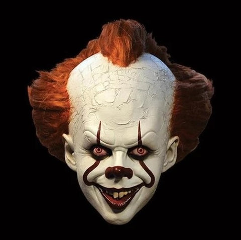 Clown Mask - Scary Halloween It Mask - Pennywise Mask - Creepy Horror