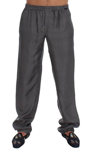 Gray SILK Pajama Lounge Pants Trousers Sleepwear