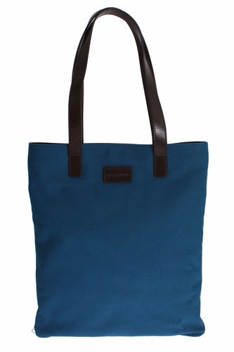 Blue Denim Leather Hand Shoulder Travel Bag