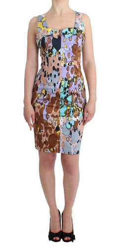 Multicolor printed pencil dress