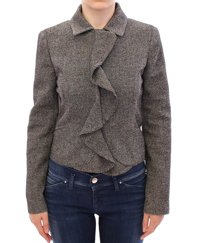 Gray Black Salt Peppar Coat Jacket